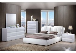 Bailey White Bedroom Set 8269 Upholstered Bed