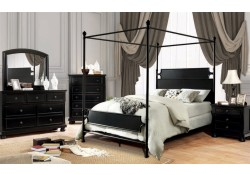 Beatrix Canopy Bedroom Set in Black