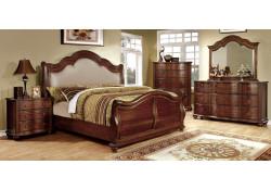 Bellavista Traditional Sleigh Bedroom Set in Cherry Finish