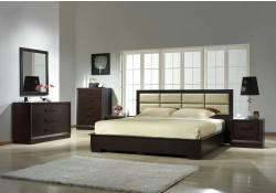 Boston Modern Queen/King Platform Bed Solid Wood Bedroom Set