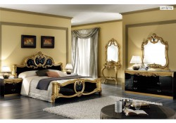Barocco Italian Classic Black and Gold Bedroom Set by Camelgroup Italy