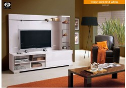 Capri White Modern High Gloss Solid Wood Italian Wall Unit