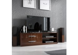 Carmen Modern TV Stand in Brown Lacquer Finish