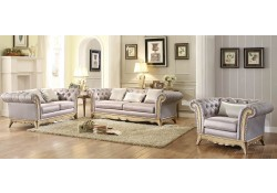 Chambord Living Room Set in Champagne Gold Fabric