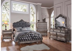 Granite Tops Antique Finished Chantelle Bedroom Set