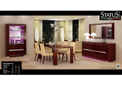 Charme Diamond Mahogany Italian Formal Dining Room Set
