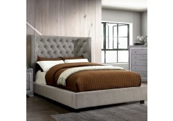 Cayla Platform Bed Set in Gray