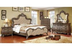 Cursa Traditional Bedroom Set in Rustic Natural Tone
