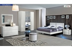 Dama Bianca Italian Bedroom Set in White Finish