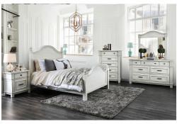 Daria Bedroom Set in Antique White