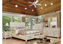 Deann Traditional Bedroom Set in Antique White