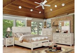 Deann Bedroom Set in Antique White