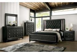 Demtria Traditional Bedroom Set in Metallic Gray