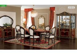 Luxor Day Italian Dining Room Set in Mahogany