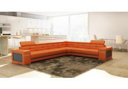 Divani Casa 5072 Modern Sectional Sofa in Orange