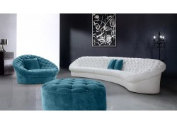 Divani Casa Cosmopolitan Sectional Sofa in Tufted Fabric