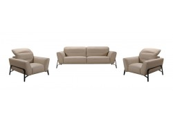 Divani Casa Evora Living Room Set in Taupe Leather