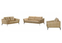 Divani Casa Forge Living Room Set in Beige Leather