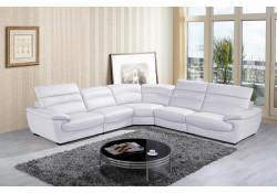 Divani Casa Hana Modern Sectional in White Leather