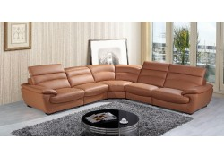 Divani Casa K8469 Sectional in Light Brown Leather