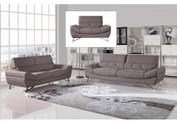 Potash Contemporary Living Room Set in Taupe Fabric