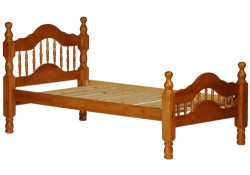 Dover Honey Solid Wood Platform Bed with Storage Option
