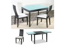 Swansea Dining Room Set in Wenge Finish by At Home USA