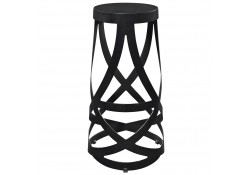 EEI-1017 Ribbon Black Modern Bar Stool