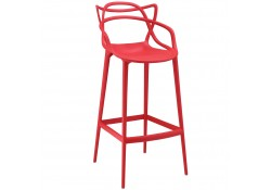 Entangled Red Modern Bar Stools - Set of 2