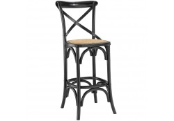 Gear Classic Bar Stools in Black Finish Wood