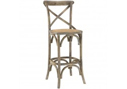 Gear Classic Wood Bar Stools in Grey Finish