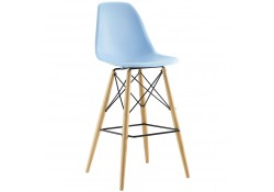 Pyramid Contemporary Bar Stools in Blue