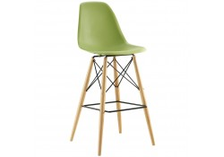 Pyramid Contemporary Bar Stools in Green