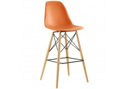 Pyramid Contemporary Bar Stools in Orange Color