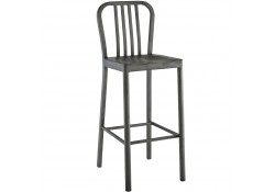 Clink Silver Finish Bar Stools - Set of 2