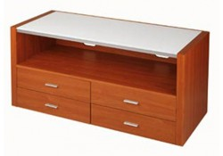 V Hold 17 Cherry Finished Wood TV Stand
