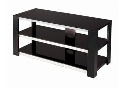 V Hold 7 Black Tempered Glass TV Stand
