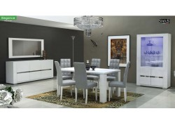 Elegance Italian Dining Room Set in White