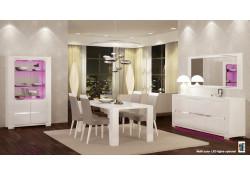 Elegance 2 Italian White High Gloss Contemporary Dining Room Set