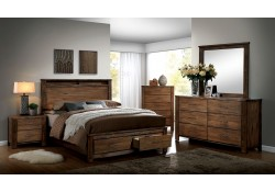 Elkton Bedroom Set in Oak with Storage Bed