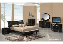 Emily Wenge Contemporary Bedroom Set by Global Furniture