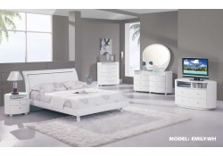 Emily White Contemporary Bedroom Set by Global Furniture