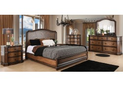 Emmaline Bedroom Set in Warm Chestnut Two Tone