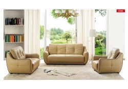 ESF 2088 Modern Living Room Set in Beige Leather