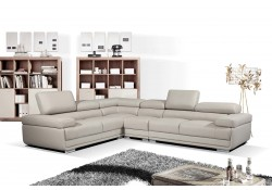 ESF 2119 Modular Sectional Sofa in Grey Leather