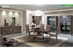 Platinum Slim Dining Room Set In Brown Made In Italy