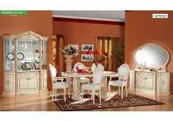 Rosella Italian Dining Room Set in Ivory Gold Finish