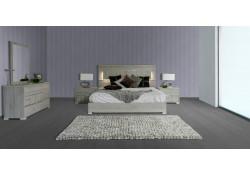 Modern Grey Matte Finish Ethan Modrest Italian Bedroom Set