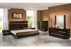 Ebony Lacquer Modrest Excalibur Italian Bedroom Set