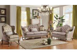 Homelegance 8412 Fiorella Silver Living Room Set